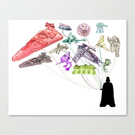 Balloons From the Darkside Canvas Print