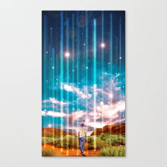 TRAVELLING LIGHTS Canvas Print