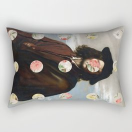 A Portrait With Dots 3 Rectangular Pillow