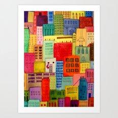 une ville à moi Art Print