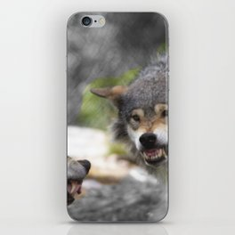 Wolves Sibling Fight iPhone Skin