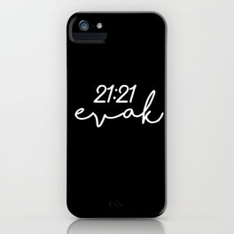 21:21 evak iPhone Case