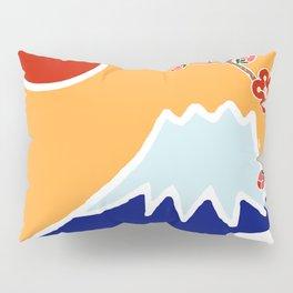 Mount Fuji and Sun Rise Pillow Sham