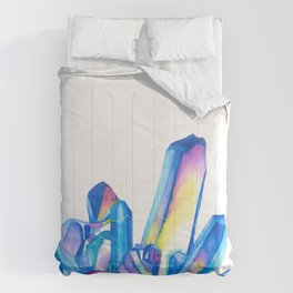 Rainbow Crystal Cluster - Watercolor Comforters