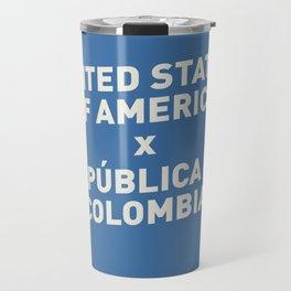 USA vs Colombia - Commemorative Match Poster Travel Mug
