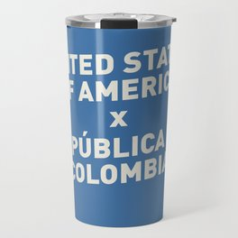 USA vs Colombia - Commemorative Match Poster Travel Mug