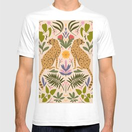 Modern colorful folk style cheetah print  T-shirt