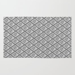 Dont Panic Pattern - Grey Rug