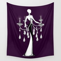 selena Wall Tapestries featuring Chandelier by Selena Gazda