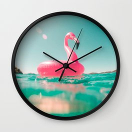 Pink swan Wall Clock
