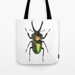 Rainbow Stag Beetle Tote Bag