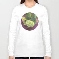 hydrangea Long Sleeve T-shirts featuring hydrangea by Federico Faggion