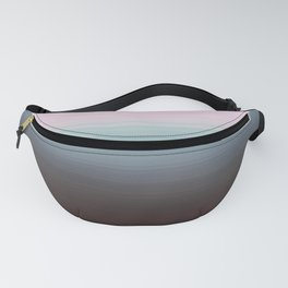 Gray Steel Blue Ombre Fanny Pack