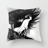 valentina Throw Pillows featuring asc 602 - La spectatrice (Valentina at the gallery) by From Apollonia with Love