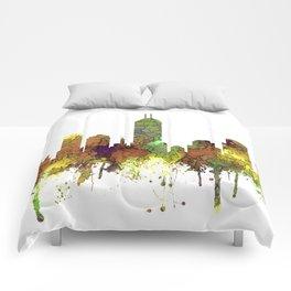 Indianapolis, Indiana Skyline SG - Safari Buff Comforters