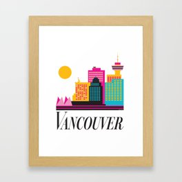 Vancouver Coal Harbour Framed Art Print