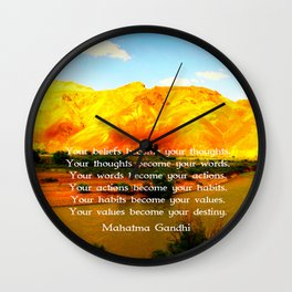Gandhi Wisdom Saying Quotation About Destiny Wall Clock