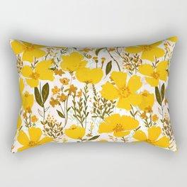 Yellow roaming wildflowers Rectangular Pillow