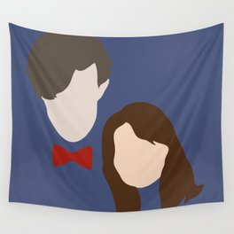 The Eleventh Doctor and the lovely Clara Oswin Oswald Wall Tapestry