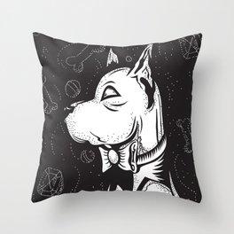 Family Portrait Dog Throw Pillow