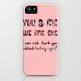 YOU & ME iPhone Case