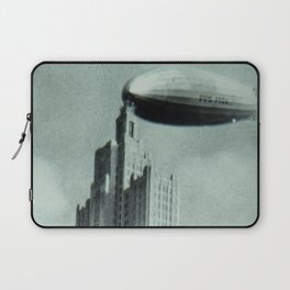 1928 Dirigible Patoka docking at the observation deck atop the Superman building in Providence RI Laptop Sleeve