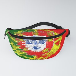 Extruded flag of Portugal Fanny Pack