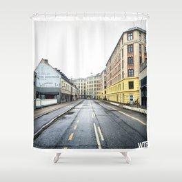 Sunday Morning, Vesterbro, Copenhagen Shower Curtain