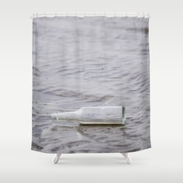 Message In A Bottle Shower Curtain