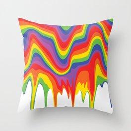 Rainbow Drip Throw Pillow