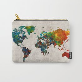World Map 61 Carry-All Pouch