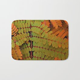 Tiny Leaves Abstract Bath Mat