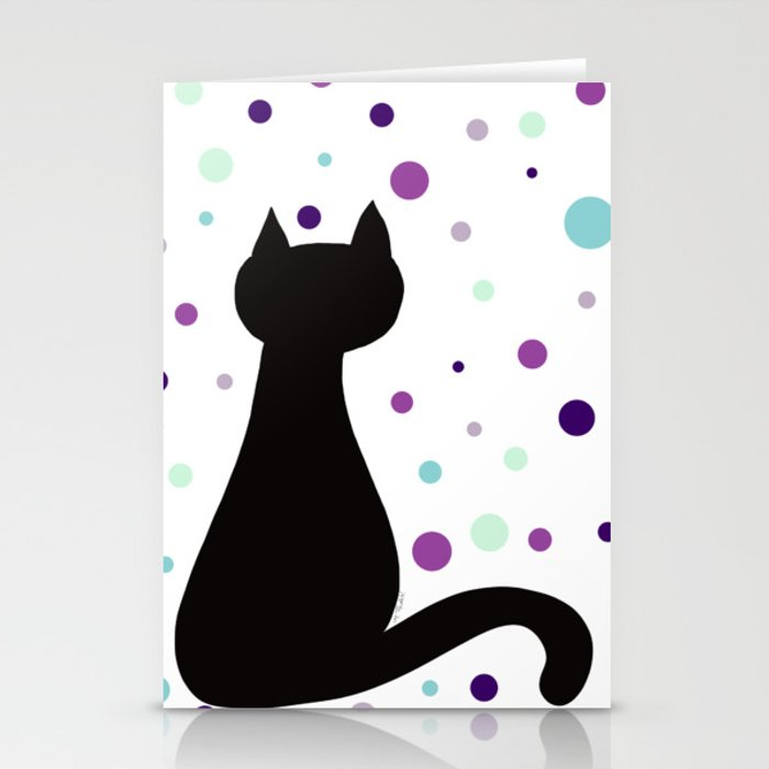 Black Cat Party! Stationery Cards