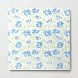 The pale blue flowers . Metal Print