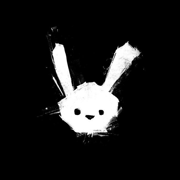 minima - splatter rabbit  Duvet Cover