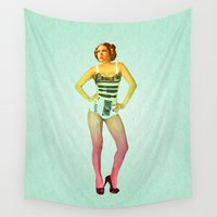 leia Wall Tapestries featuring Hipstess Leia Variant R by Parissis