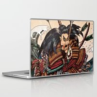 samurai Laptop & iPad Skins featuring Samurai by RICHMOND ART STUDIO