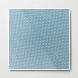 U13: blue droplet Metal Print