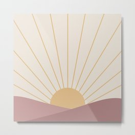 Morning Light - Pink Metal Print