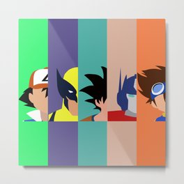 Childhood in a Nutshell Grouped #2 Metal Print