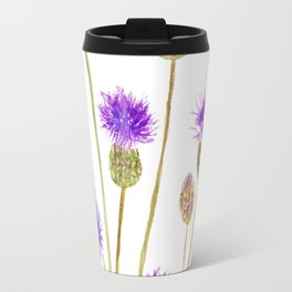 purple thorny wildflower Travel Mug
