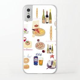 Paris Food Map Clear iPhone Case