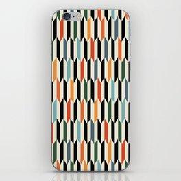 MCC Oddities III - Mid Century Modern Geometric Abstract Pattern - Red Orange Blue Green Black iPhone Skin