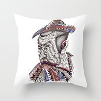samurai Throw Pillows featuring Samurai  by Geek World