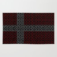 denmark Area & Throw Rugs featuring digital Flag (Denmark) by seb mcnulty