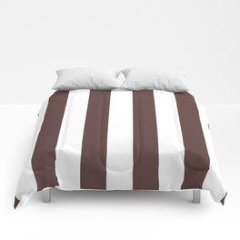 Dark Brown Granite and White Wide Vertical Cabana Tent Stripe Comforters