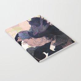 1899 Art nouveau auction journal ad Notebook