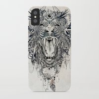 lion iPhone & iPod Cases featuring Lion by Feline Zegers