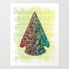Neon Arrowhead Art Print