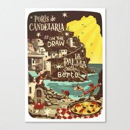 Porís de Candelaria #onthedraw in La Palma Canvas Print